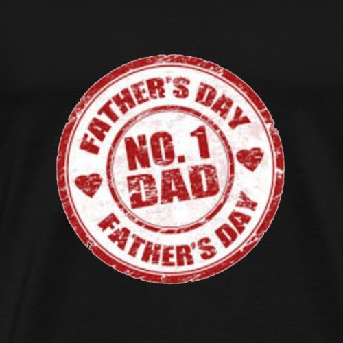#1 Dad - Men's Premium T-Shirt