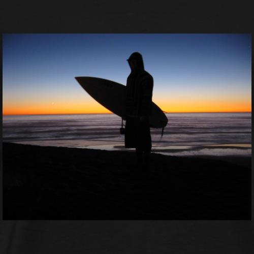 Sunset Surf Silhouette - Men's Premium T-Shirt