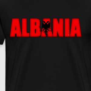 Albania Flag - Men's Premium T-Shirt