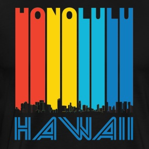 Retro Honolulu Hawaii Skyline - Men's Premium T-Shirt