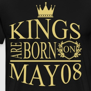 Kings are born on May 08 - Men's Premium T-Shirt