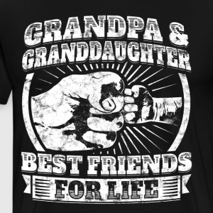 Grandpa Granddaughter Friends Grandparent Kids Tee - Men's Premium T-Shirt