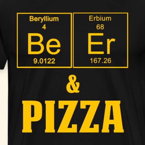 Funny Beer and Pizza Periodic Table - Men's Premium T-Shirt