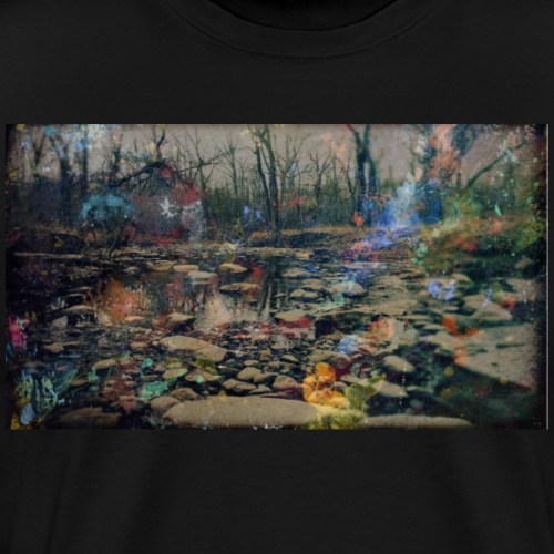 Splatter Paint Nature Photo 02 - Men's Premium T-Shirt