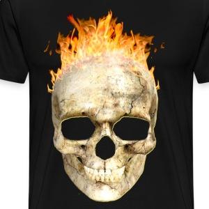 flaming skull 200 4kh - Men's Premium T-Shirt