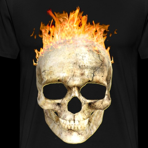 flaming skull 200 4kh - Men's Premium T-Shirt