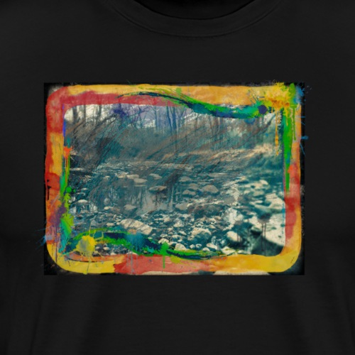 The Dark Painted Forest Nature Photo - Men's Premium T-Shirt