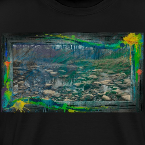 Paint and Frame The River - Men's Premium T-Shirt