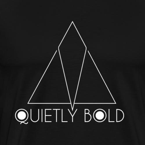 Quietly Bold (White) - Men's Premium T-Shirt