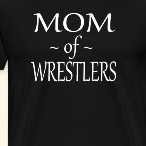 Funny Wrestling Mom Design Mom of Wrestlers - Men's Premium T-Shirt