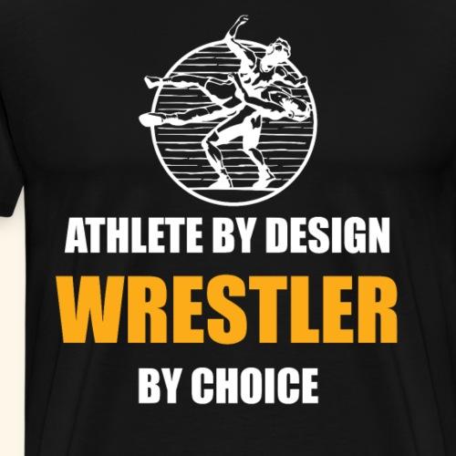 Funny Wrestling Shirt Athlete by design - Men's Premium T-Shirt