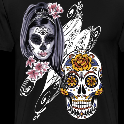 Skull Lovers Filled In - Men's Premium T-Shirt