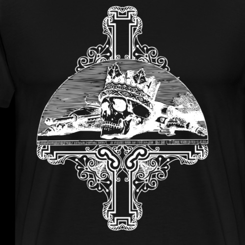 Gothic Skull and Cross - Men's Premium T-Shirt