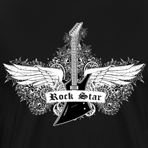 Rock Star - Guitar with wings - Men's Premium T-Shirt