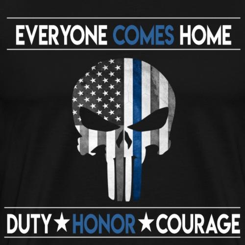 Blue Lives Skull - Men's Premium T-Shirt