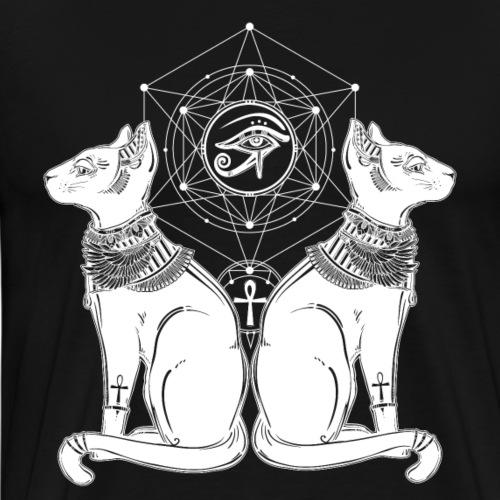 Ancient Egyptian Cats - Men's Premium T-Shirt