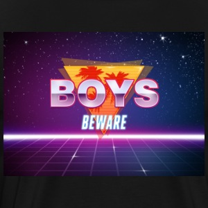 Boys Beware - RETRO - Men's Premium T-Shirt