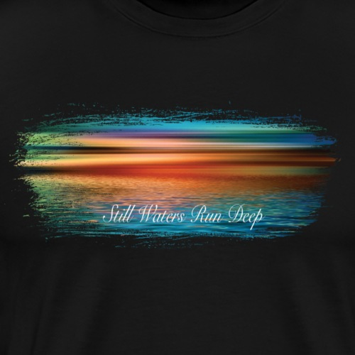 Still waters fun deep paint swash - Men's Premium T-Shirt