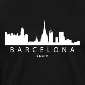 Barcelona Spain Skyline - Men's Premium T-Shirt