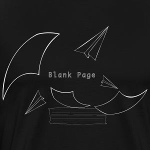 Blank Page Papers Flying - Men's Premium T-Shirt