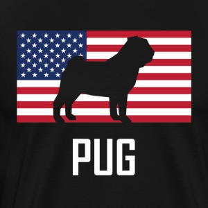Pug American Flag - Men's Premium T-Shirt