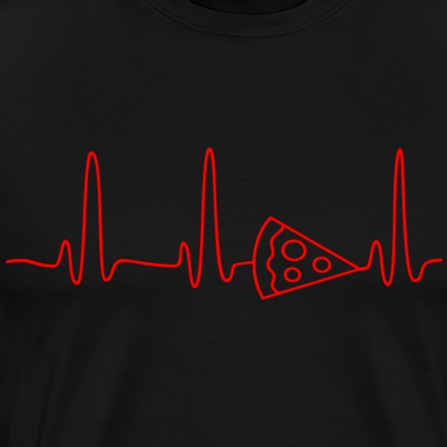 EKG HEARTBEAT PIZZA red - Men's Premium T-Shirt