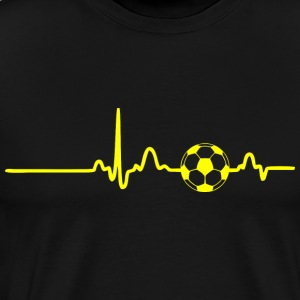 EKG HEARTBEAT BALL yellow - Men's Premium T-Shirt