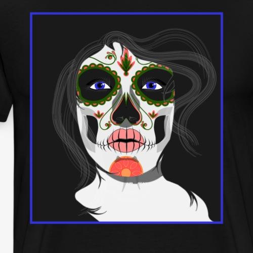 Santa Muerte -Lady of Holy Death -Folk Religious - Men's Premium T-Shirt