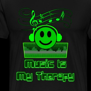 Music Is My Therapy - Men's Premium T-Shirt
