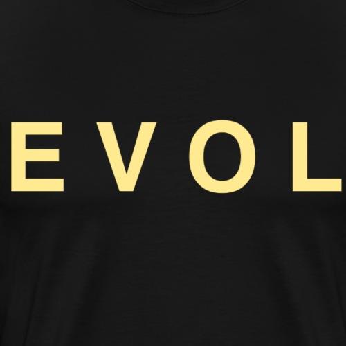 Evol - Gold Lettering - Men's Premium T-Shirt