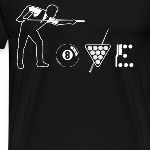Billiard love shirt - Men's Premium T-Shirt