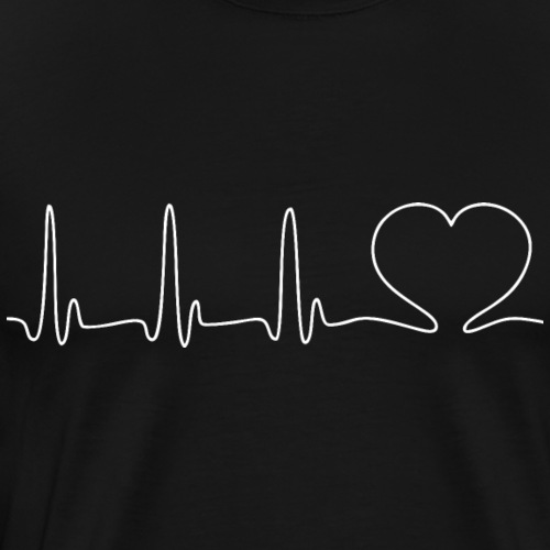 EKG HEARTBEAT white - Men's Premium T-Shirt