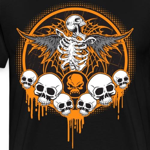 Halloween Skulls Chaos In Hell - Men's Premium T-Shirt