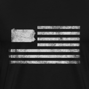 Pennsylvania State United States Flag Vintage - Men's Premium T-Shirt