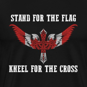 Stand for the flag Canada kneel for the cross - Men's Premium T-Shirt