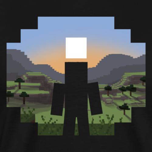 Mine craft Landscape - Men's Premium T-Shirt