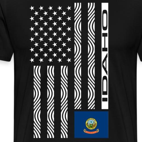 Modern US State Flag T-Shirt: IDAHO - Men's Premium T-Shirt