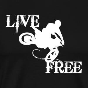 LIVE FREE WHITE LOGO - Men's Premium T-Shirt