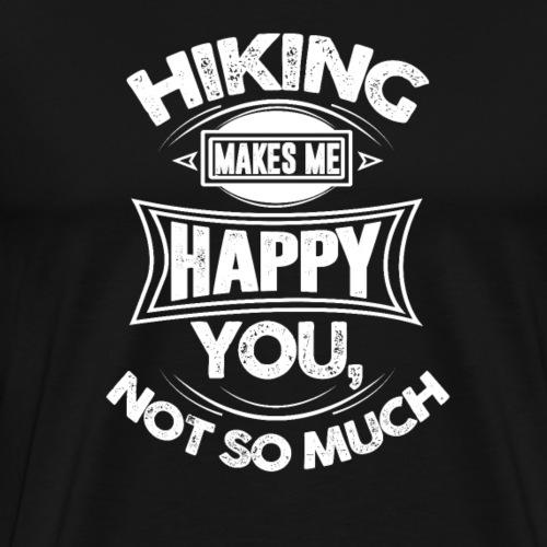 Funny Distressed Camper Hiking Makes Me Happy - Men's Premium T-Shirt