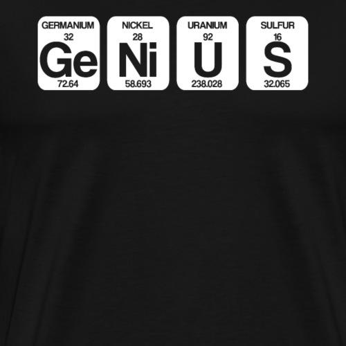 Ge Ni U S - Genius Science - Men's Premium T-Shirt