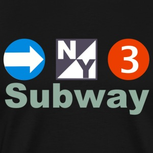 New York Subway - Men's Premium T-Shirt