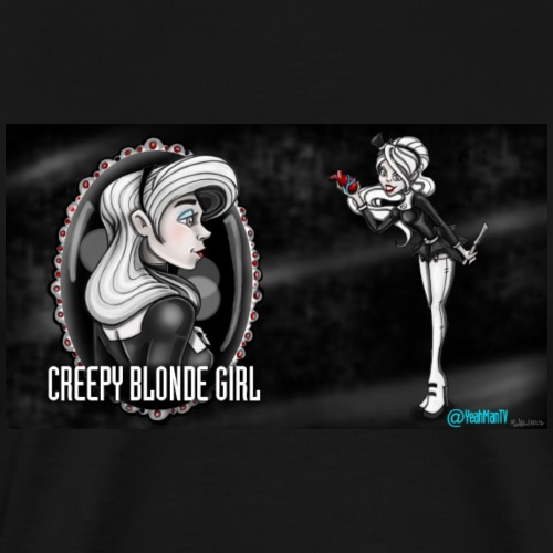 CreepyBlondeGirl2 - Men's Premium T-Shirt