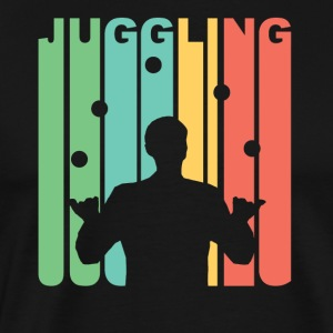 Vintage Juggling Graphic - Men's Premium T-Shirt