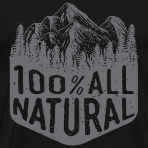 Natural hair - 100% All Natural mountain hiking - Men's Premium T-Shirt