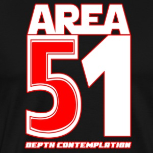 Area 51 T-Shirt Depth Contemplation - Men's Premium T-Shirt