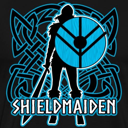 Viking Shield Maiden Warrior - Men's Premium T-Shirt