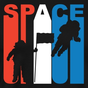 Red White And Blue Space Astronaut - Men's Premium T-Shirt