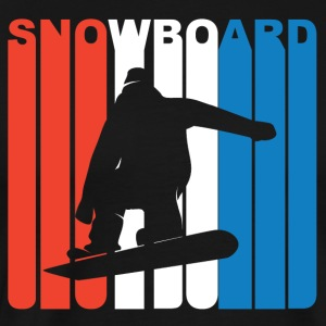 Red White And Blue Snowboard Snowboarding - Men's Premium T-Shirt