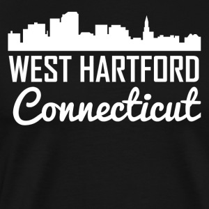 West Hartford Connecticut Skyline - Men's Premium T-Shirt