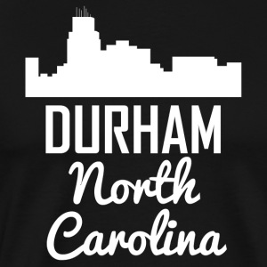 Durham North Carolina Skyline - Men's Premium T-Shirt